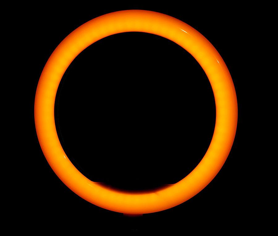 رینگ لایت عکاسی هفت رنگ YQ-350 RGB