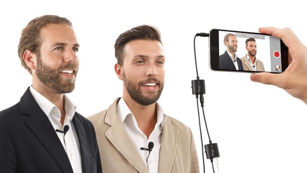 میکروفون-یقه-ای-تولید-محتوا-ویدیویی