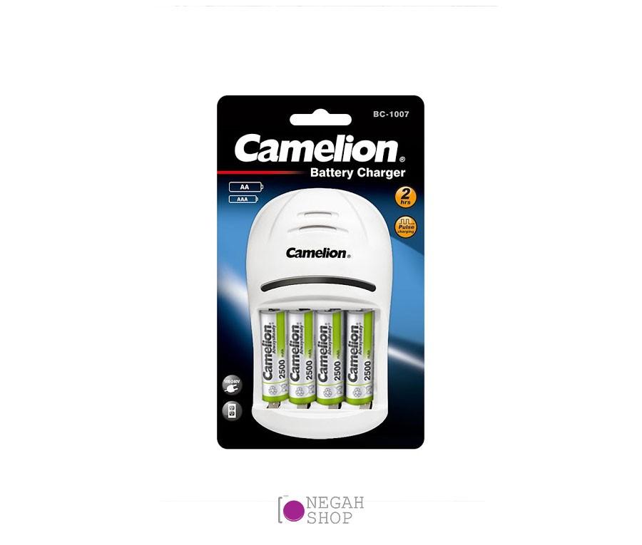 تصویر شارژر دو ساعته کملیون Camelion BC-1007 به همراه باتری