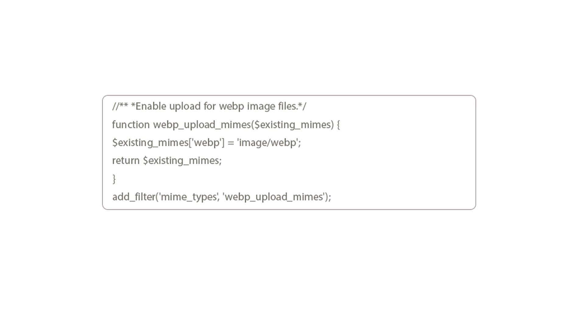 نحوه افزودن دستی تصاویر WebP به وردپرس