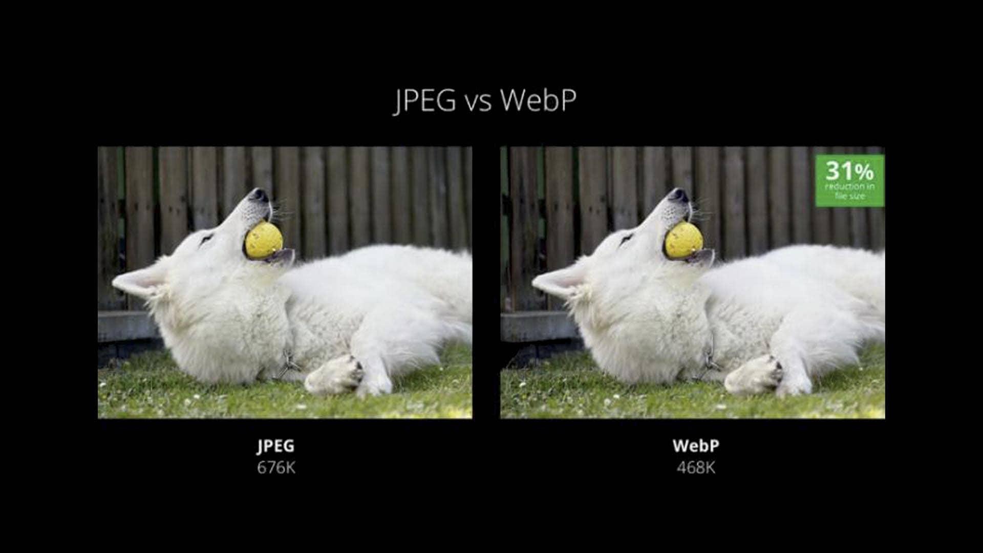 کاهش حجم WebP